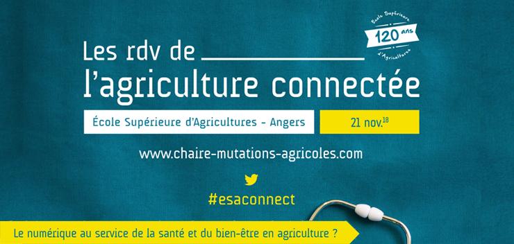 #esaconnect 21/11/2018 : numérique au service de la santé en agriculture